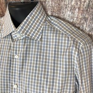 NWT Isaia Men's Dress Shirt 15 1/2